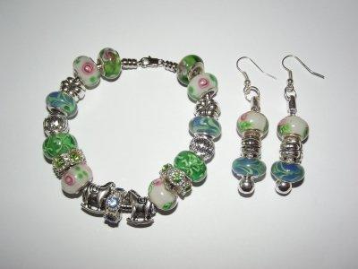 """Parure : Boucles d'Oreilles et/ou Bracelet : """"La Tendresse"""""""