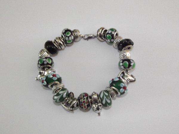 """Bracelet """"Les Souris Vertes"""""""