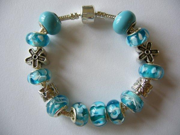 """Parure : Boucles d'Oreilles et/ou Bracelet """"Turquoisine"""""""