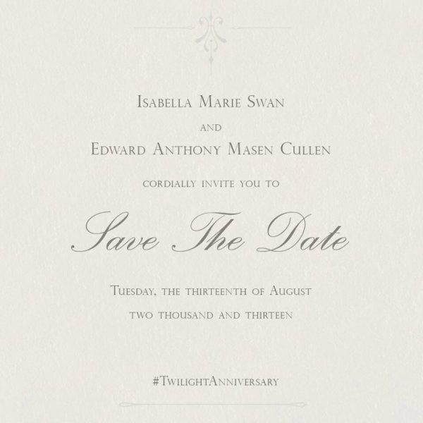 Faire part mariage Bella&Edward