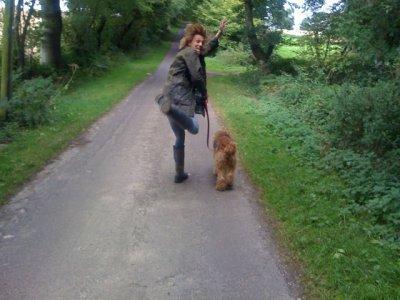Jamie et son chien