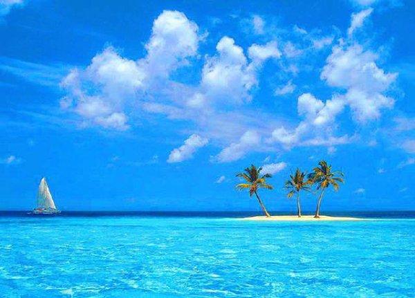 beau paysage avec mon ile