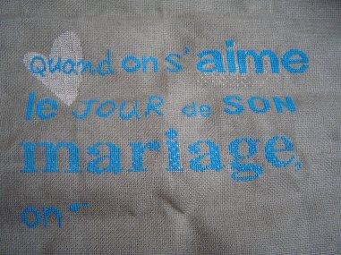 pour un mariage