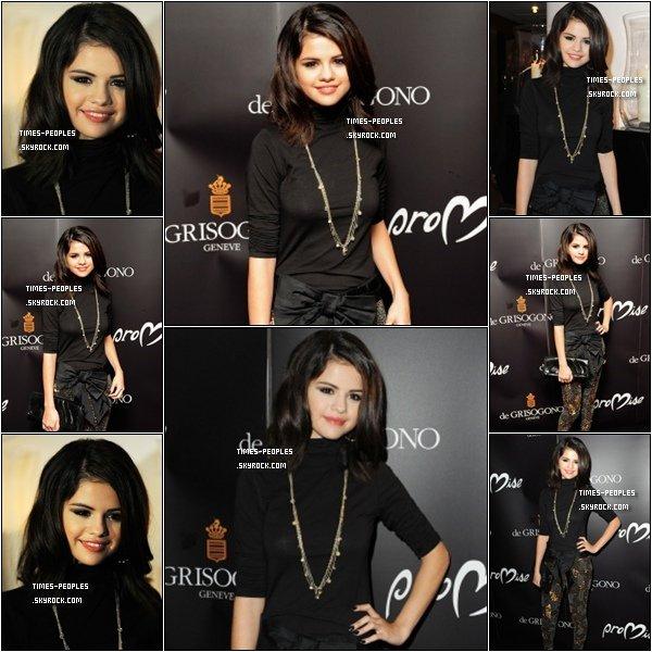 . 29/09/10 :   Selena Gomez était à l'évenement organisé par Cheryl Cole à Londres  .