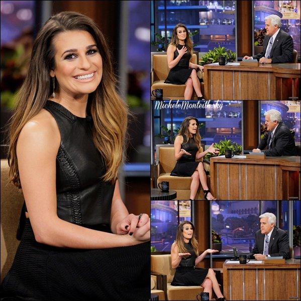 ☼ 12.11.12 : Lea était l'invitée de Jay Leno dans ' The Tonight Show ' !  Je suis super fière de Lea, et est partout maintenant ! :)