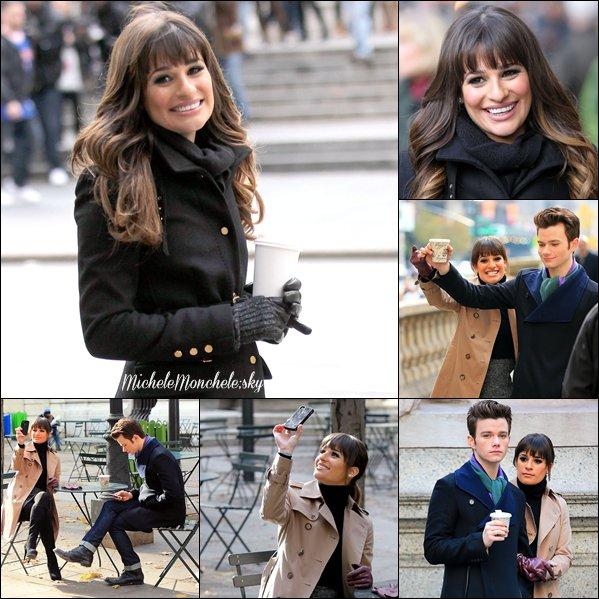 ☼ 18.11.12 : Lea et Chris Colfer sur le set de Glee ! Lea est sublime ! J'aime vraiment toutes les photos :P
