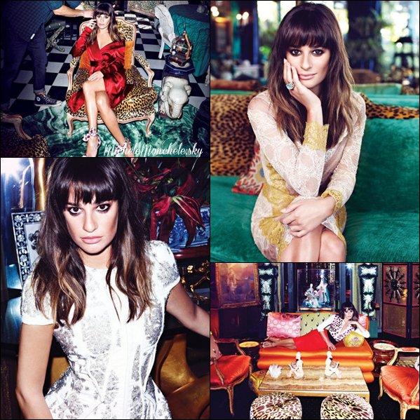☼ Photoshoot de Lea pour le magasine Flare !  J'aime beaucoup, sa fait très Orient, Lea est magnifique :D