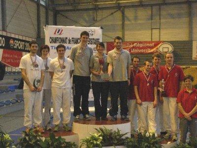 Resultats du championnat de France Universitaire à Chamalieres.