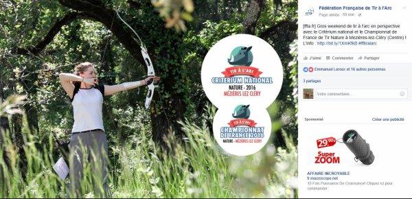 Championnat de France tir Nature à Mézière lez cléry (45) les 21 et 22 mai 2016
