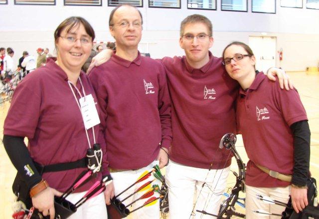 """Les archers du tir """"parcours"""" et les poulies de Le Mans Maine..."""