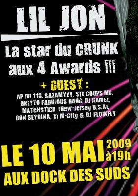Concert : 1ère partie de Lil Jon le 10 Mai à Marseille