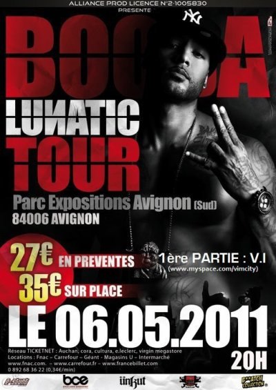 V.I en 1ère partie de BOOBA le 6 MAI à Avignon !!
