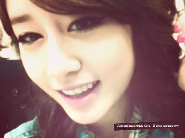 .Photo posté sur Twitter par Jiyeon (T-ara)..