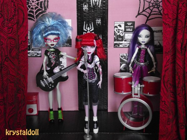 Ma collection Monster High : le trio rock