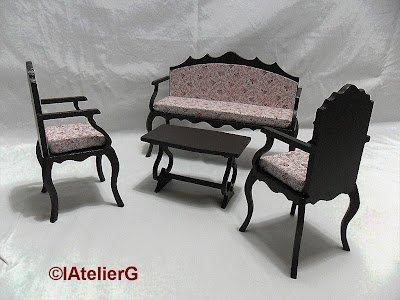 Meubles pour Monster High : nouveaux meubles fabriqués par lAtelierG