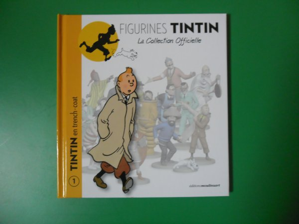 Figurine officielle: Tintin en trench-coat