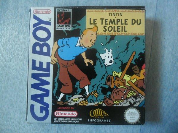 Jeu game boy Tintin et le temple du soleil