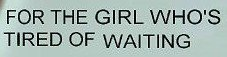 Arrêter d'attendre