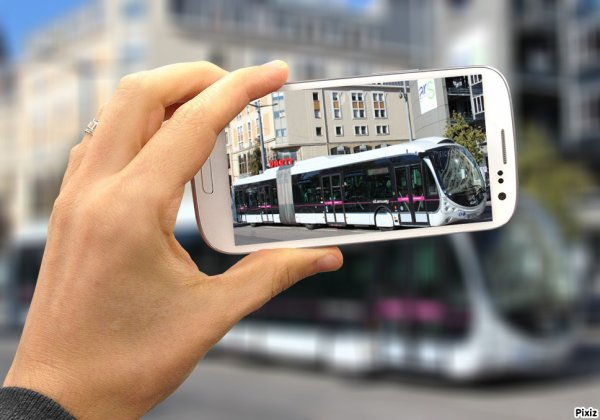 Photo montage de bus