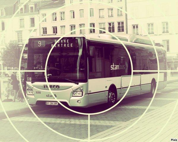 Photo montage de bus pixiz