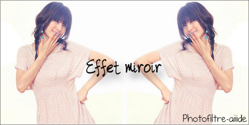 Effet miroir for Image miroir photoshop