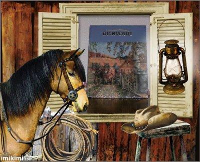 petite ardoise chevaux