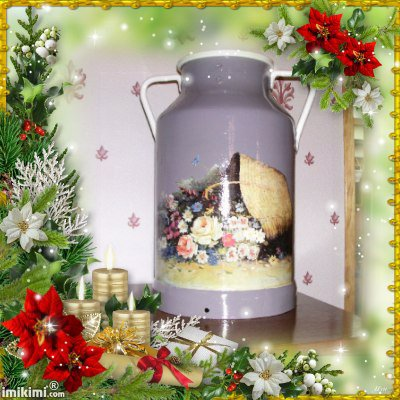 bidon a lait fleurs