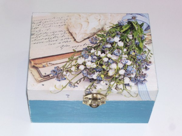 boîte à bijoux bleu femme