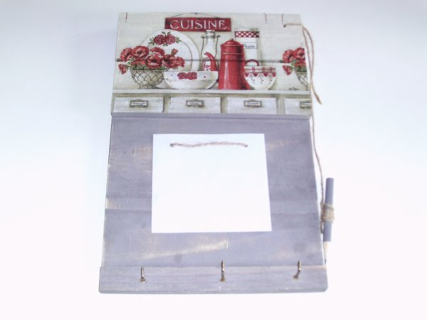 arroche clés et accroche bloc notes décoratif