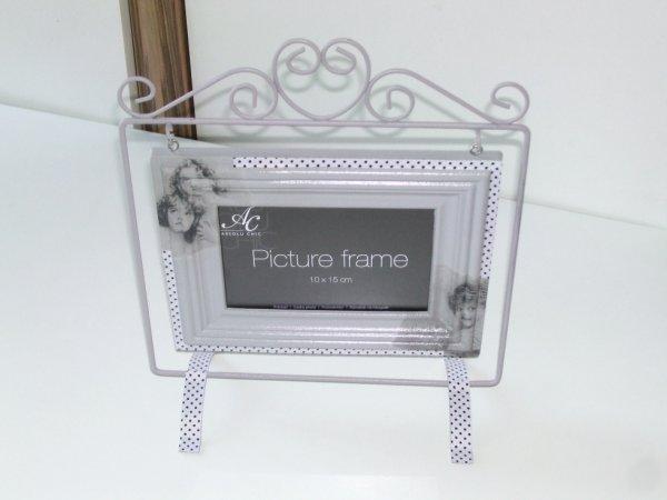 cadre photo gris décoratif