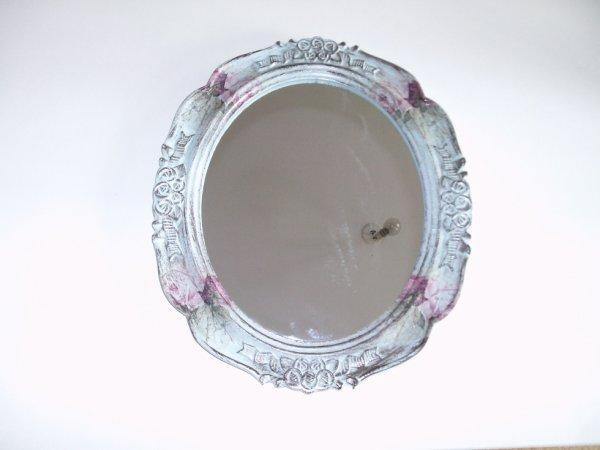 miroir ovale vert