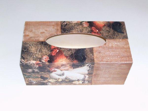 boîte à mouchoirs poule coq original