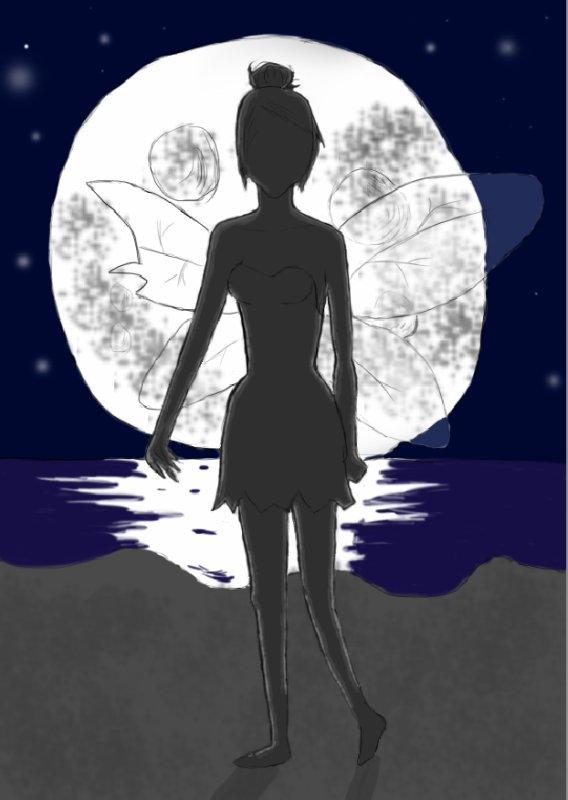 Une fée dans la nuit.