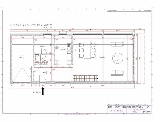plan de maison autocad