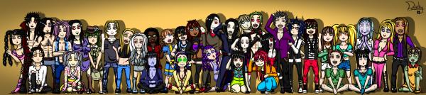Liste de mes personnages: