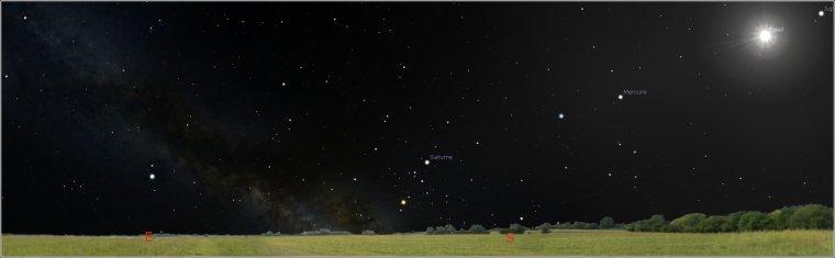 Si la lumière du soleil ne cachait pas les autres étoiles, je verrais ainsi le ciel en plein jour.