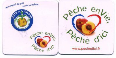 "LOT DE 2 MAGNETS ""PECHE D ENVIE PECHE  D ICI"""