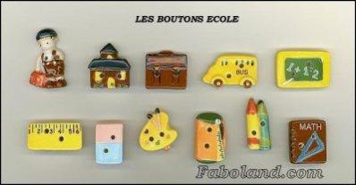 """SERIE DE FEVES """"LES BOUTONS ECOLE"""""""
