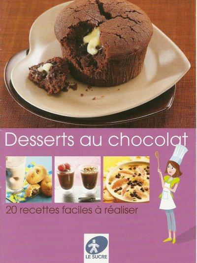 "LIVRET ""DESSERTS AU CHOCOLAT"""