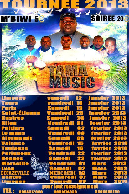Tama Music Tournee 2013 (affiche officiel )