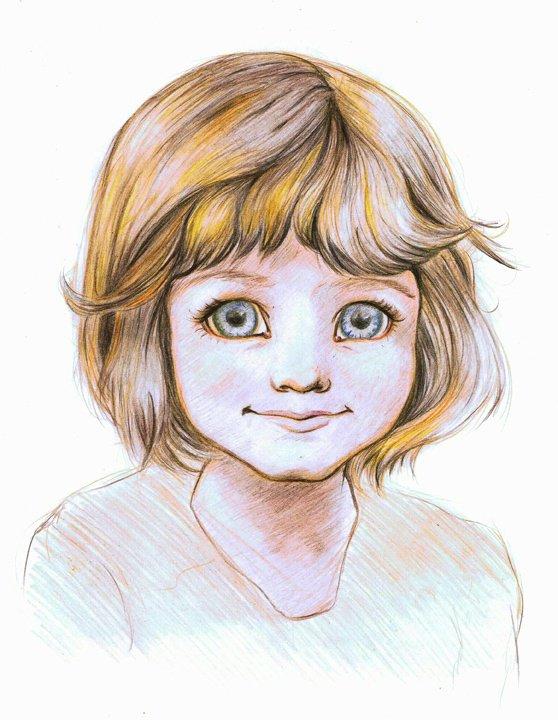 Portrait crayon de couleur