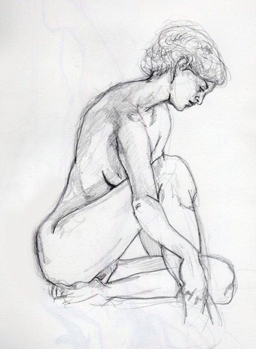 dessin de nue