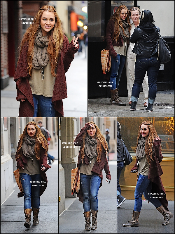 - 28/02/11 : Miley & sa maquilleuse Faisant du shopping à New York . TOP ou FLOP ? . -