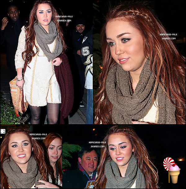 - 03/03/11 : Miley et sa soeur Brandi sont allées dîner chez Tao à New York . TOP ou FLOP ? . -