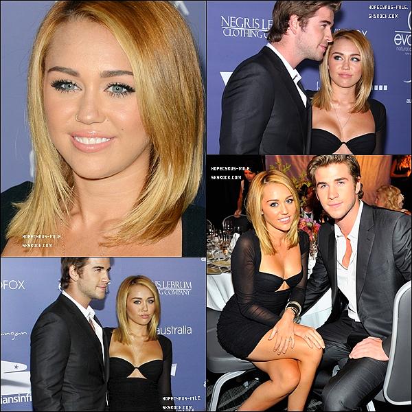 """. 27.06.12.Miley et son boyfriend (qui a été récompensé) étaient aux """"Australians In Film Awards"""". TOP ou FLOP?."""