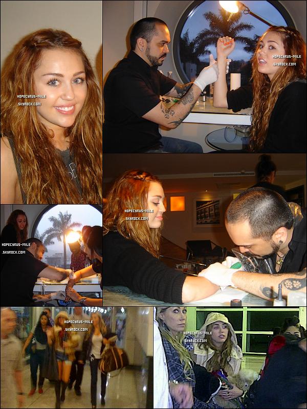 .  15/05/11 Miley et sa maquilleuse se sont fait tatouer ( ENCORE ) à Sao Paulo.   12/05/11 : Miley et toute l'équipe du « Gypsy Heart Tour » étaient à l'aéroport du Venezuela .    Découvrez 2 nouvelles photo d'un nouveau shoot . Et de nouvelles photo de shoot ancien. .