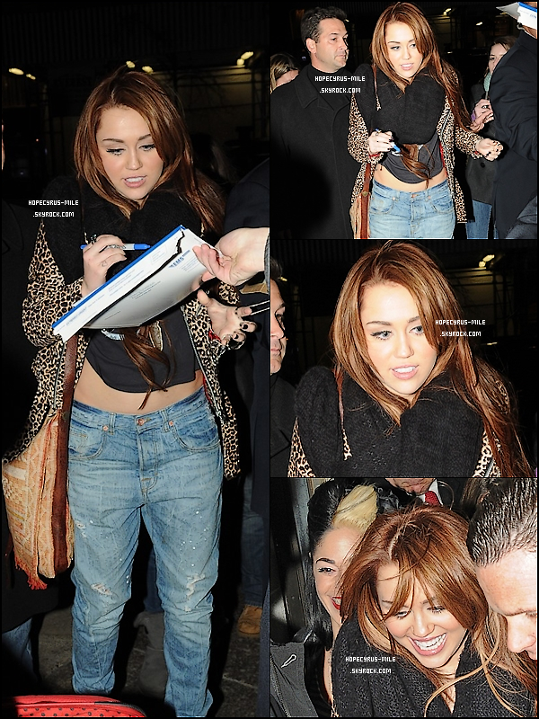 - 05/03/11 : Après le show, Miley  se rendait à l'after-party à New-York TOP ou FLOP ? . -
