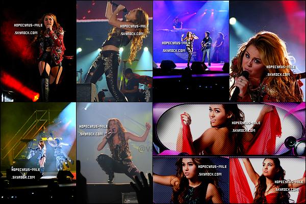 """.  04/05/11 : La belle , Miley Cyrus a donnée son 3ème  à San Tiago au Chili .Découvrez de nouvelles photos Mil' pour le """"GHT""""+  1 mai , Mil'  faisait du shopping au Chili. photo-ici ."""