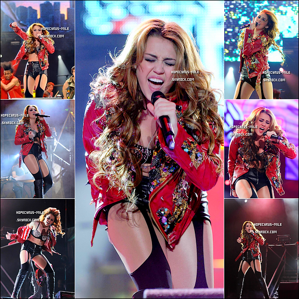 .  06/05/11 : Miley Cyrus donnait un concert à Buenos Aires en Argentine.Découvrez deux nouvelles photos de Miley et sa mère Tish en Argentine et une photo Miley donnant une interview au Chili. .