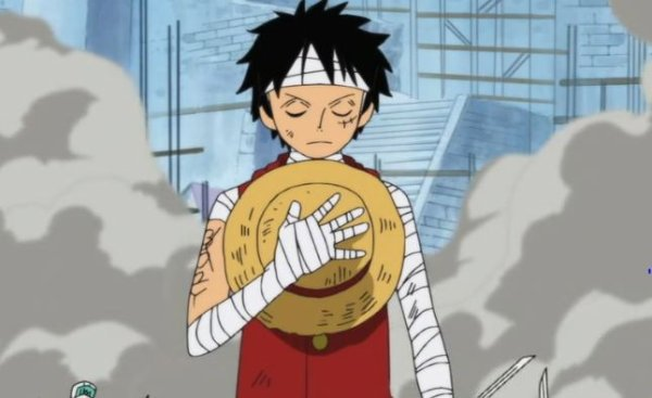 Hommage de Luffy à son frère
